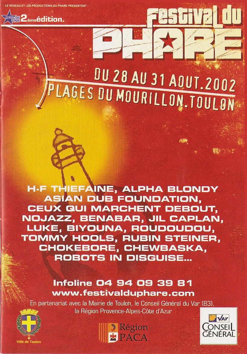 réalisations | références clients Réalisations | références clients festival du phare 2002