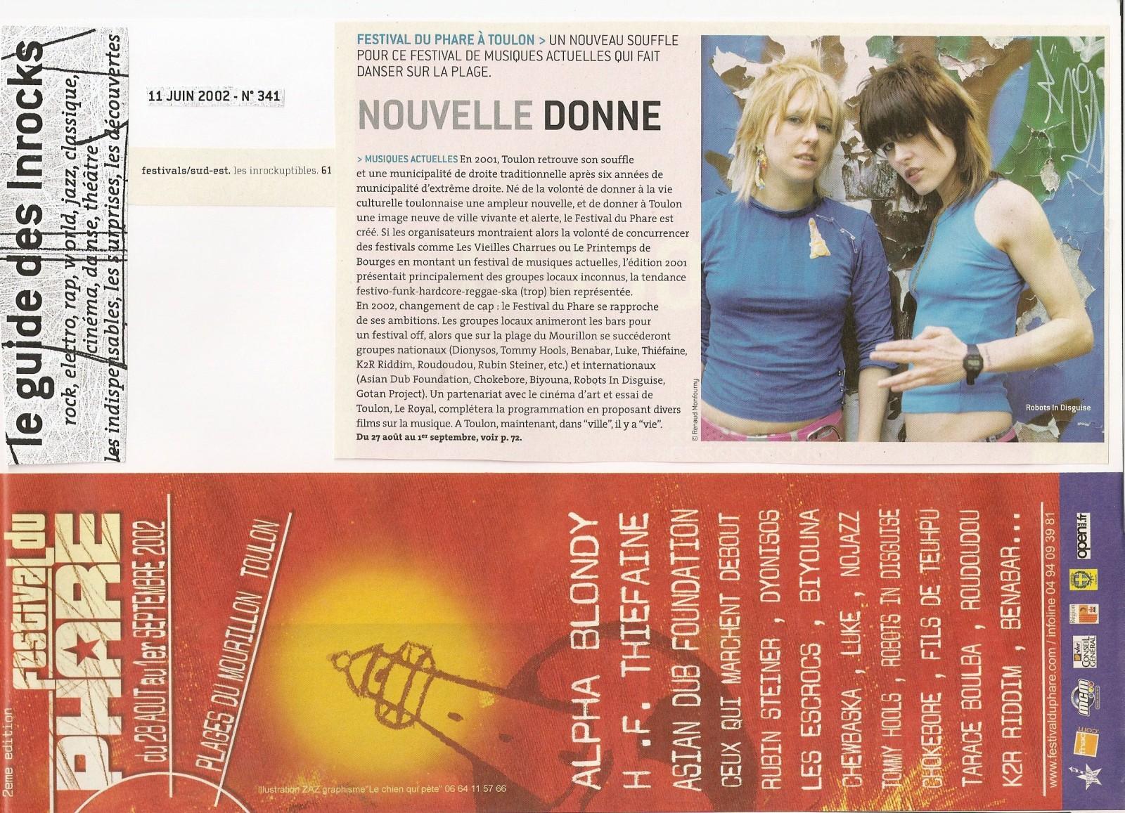Festival du Phare  | Toulon | 2002 | Revue de presse Festival du Phare  | Toulon | 2002 | Revue de presse les inrockuptibles fetsival du phare 2002 culture digitale