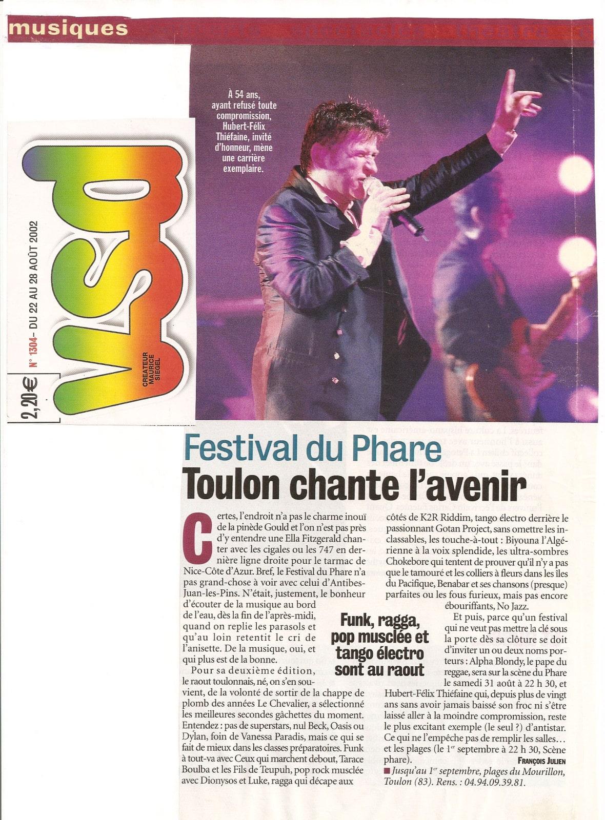 Festival du Phare | Toulon | 2003 | revue de presse Festival du Phare | Toulon | 2003 | revue de presse vsd festival du phare 2002