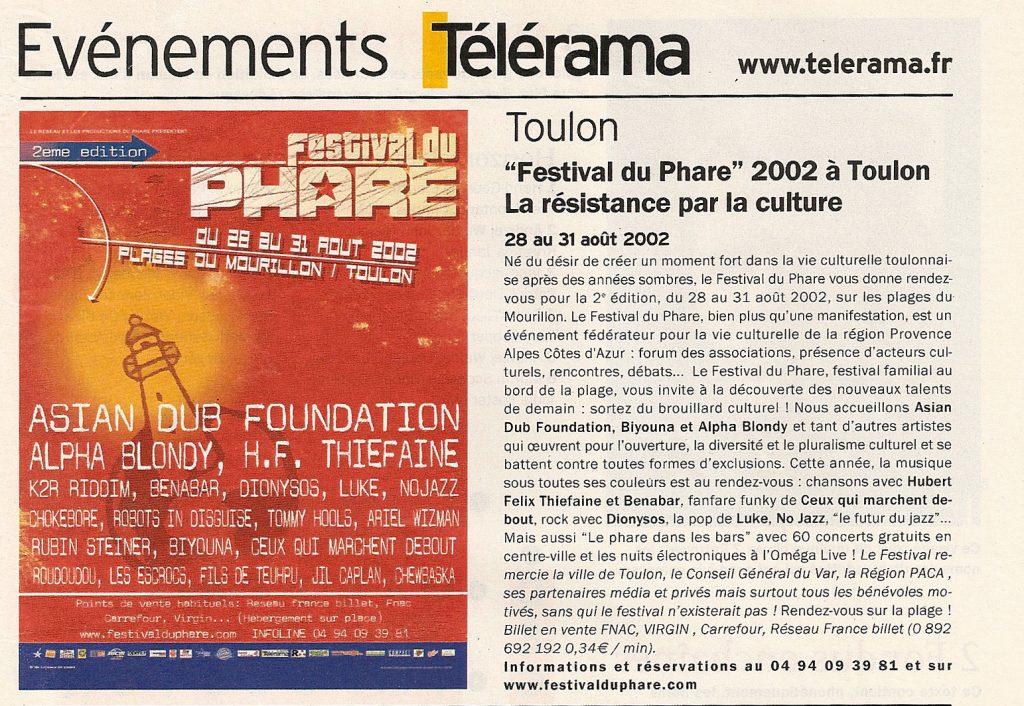 réalisations | références clients Réalisations | références clients jean vincent banes culture digitale agence de communication telerama 2002 1024x706