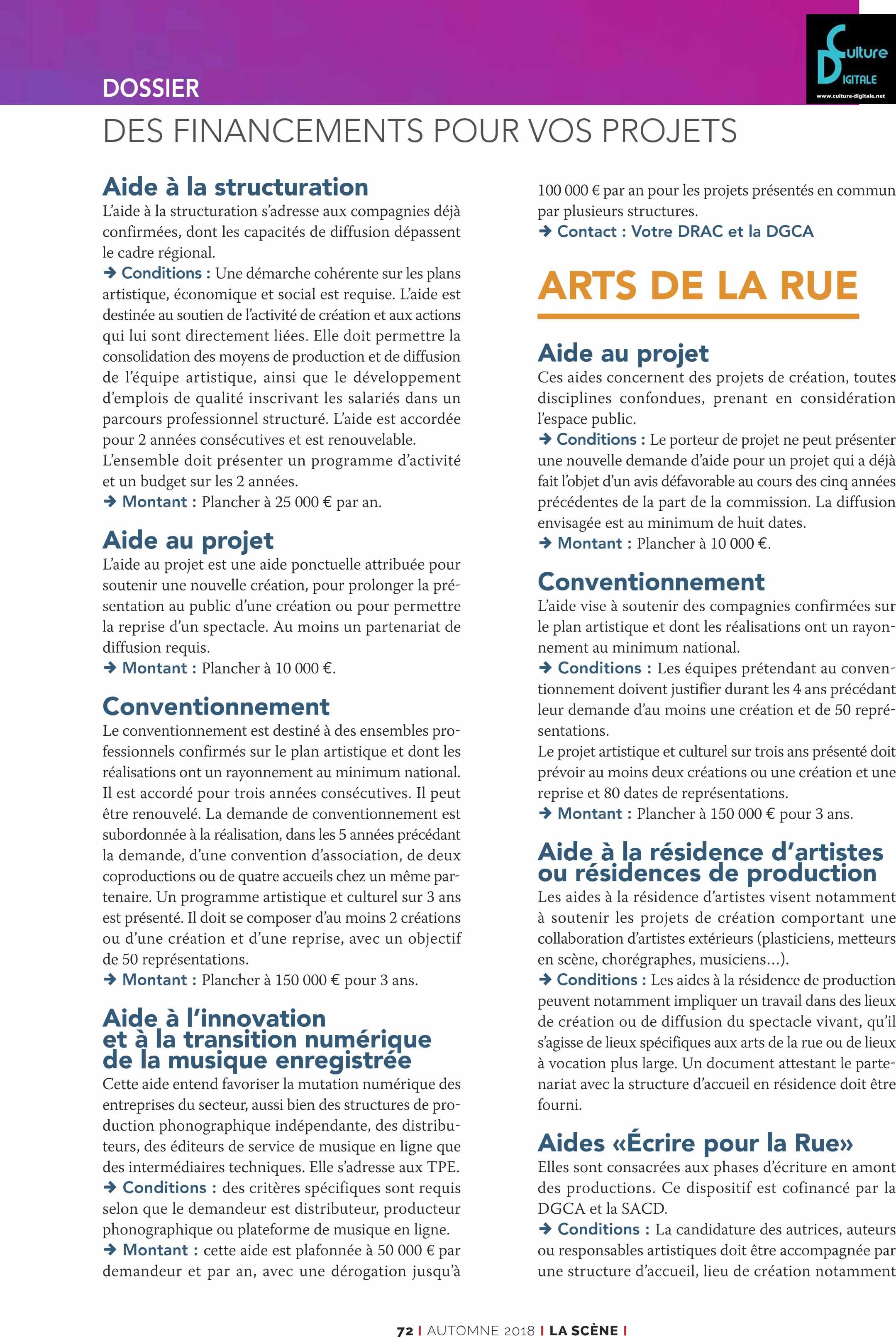 Les financements du Ministère de la Culture Les financements du Ministère de la Culture les financements du ministre de la culture 3 www