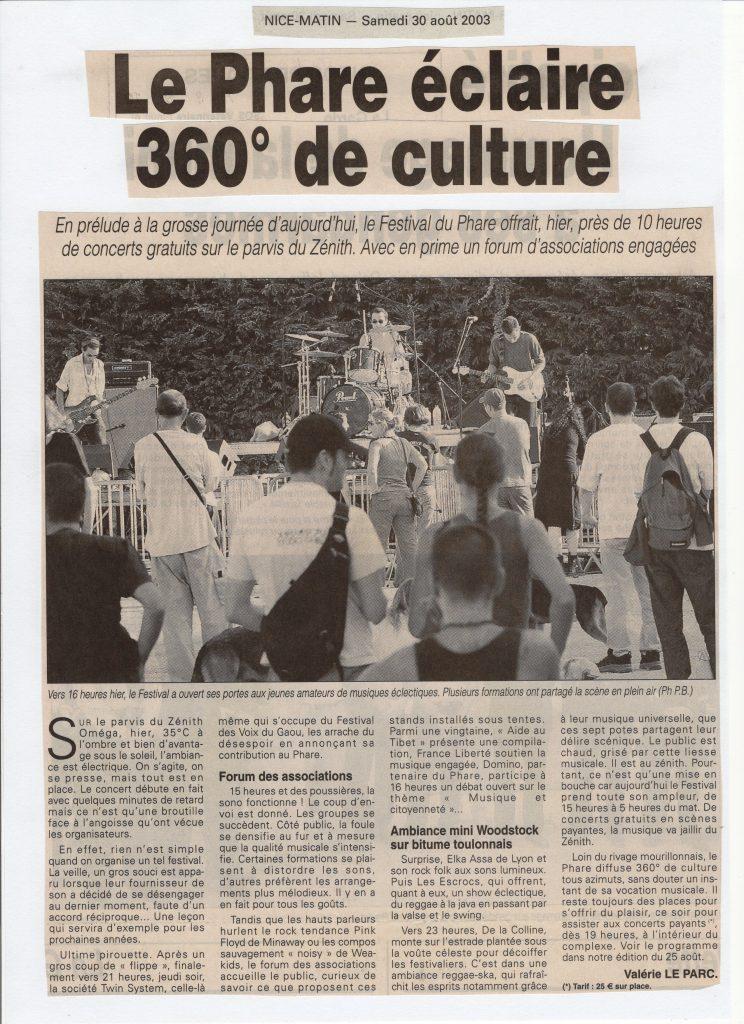 Festival du Phare 2002 Toulon [object object] Festival du Phare    Toulon   2002   Revue de presse pharre217 744x1024